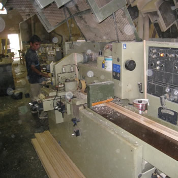 Woodworking shop at Dennis Boatworks engine and generator servicing