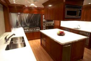 kitchen countertop marble sink oven fruit bowl yacht cherry oak pears in the fruit bowl