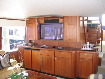 Entertainment set on a superyacht by Dennis Boatworks