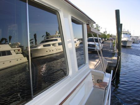Image of custom built windows by Dennis Boatworks.