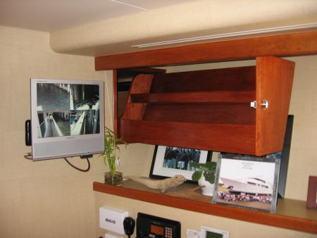 custom-made shelves, custom woodworking for marine vessels