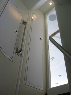 hidden compartments made of polycarbonate on a yacht