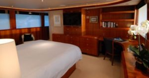 yacht boat boookshelf cherry oak laquered laquired wood bed bedroom