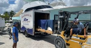 dennis-boatworks-trailer-loading-up-the-bbq-set-and-cabinets