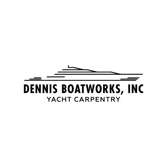 Dennis Boatworks Inc Black On White Logo